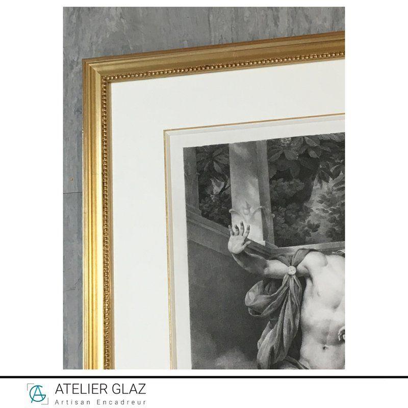 Biseau gainé blanc filet doré | Atelier Glaz