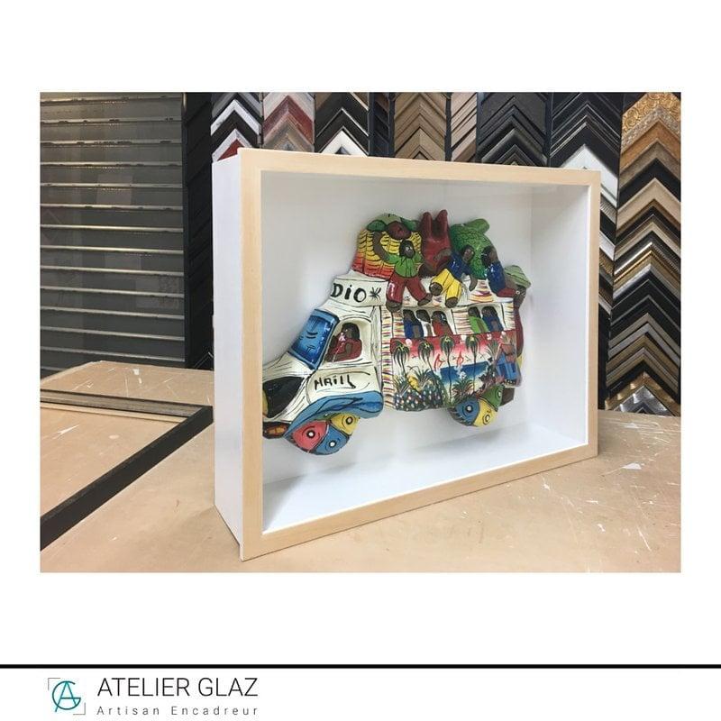 Boîtage profond bus papier mâché | Atelier Glaz