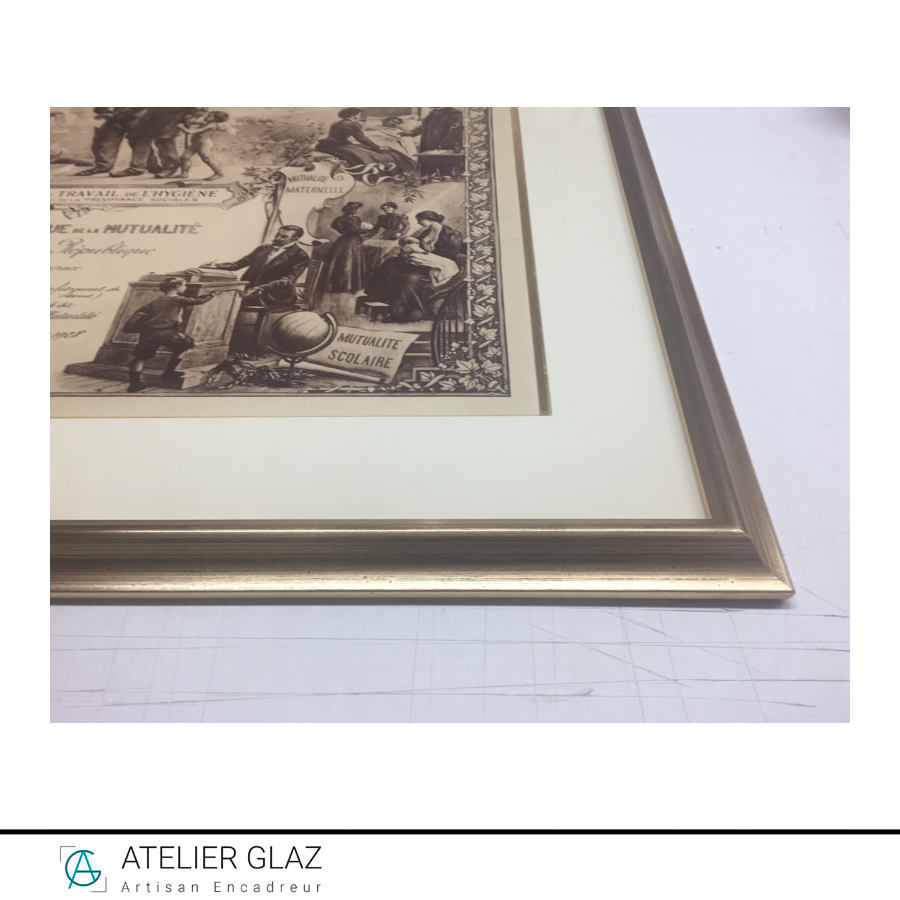 Biseau Dore Vieilli Gravure Journal Decoration 2018