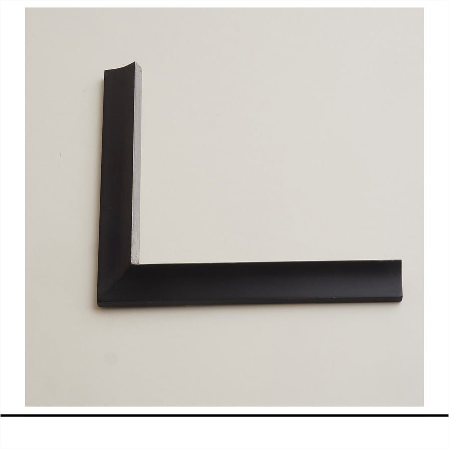 Closed Corner Double Bevel Balck And Silver