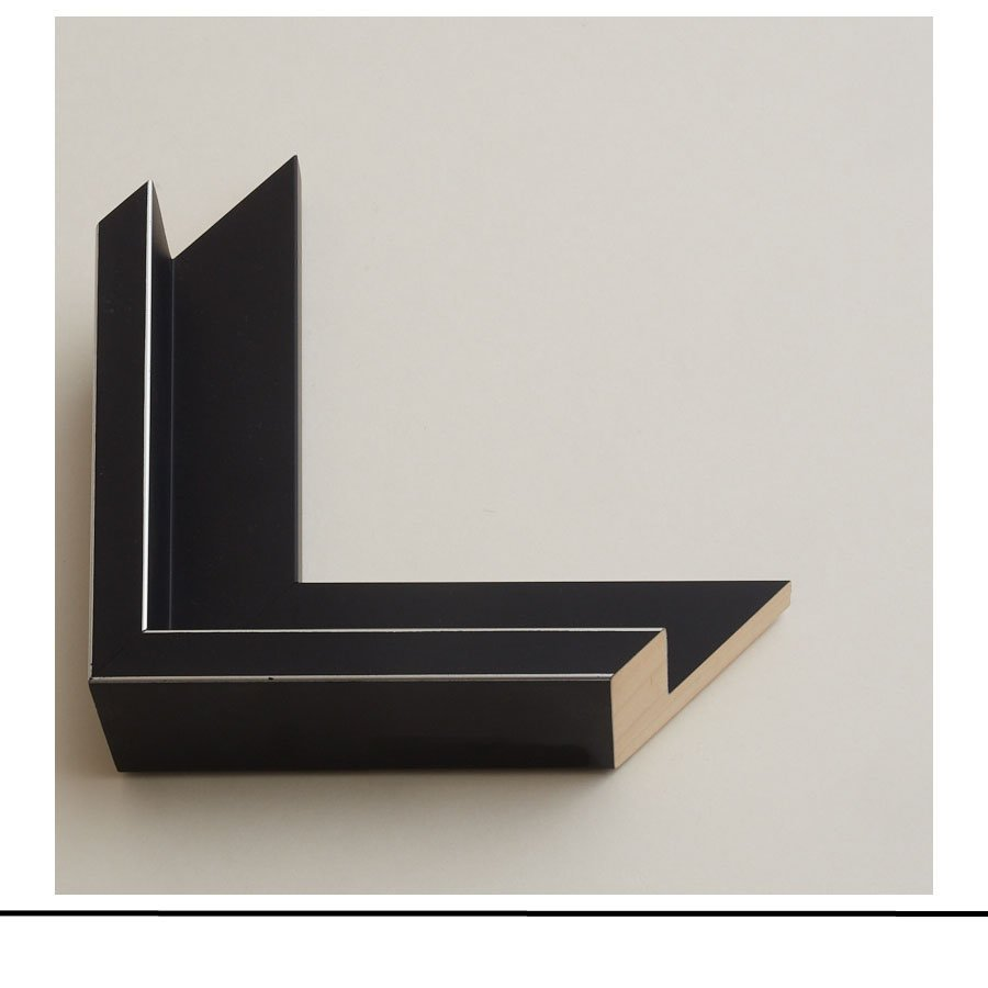 Tray Frame Black Silver Lines