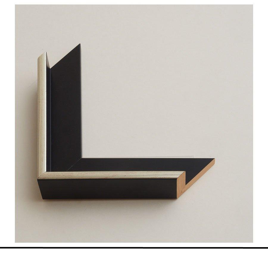 Tray Frame Black Silver Top